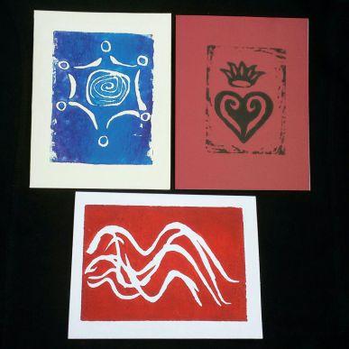 Handprinted Cards