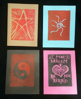 Handprinted Notecards 2