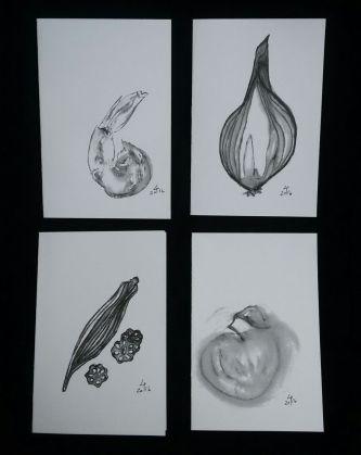 Food Illustration Notecards 2