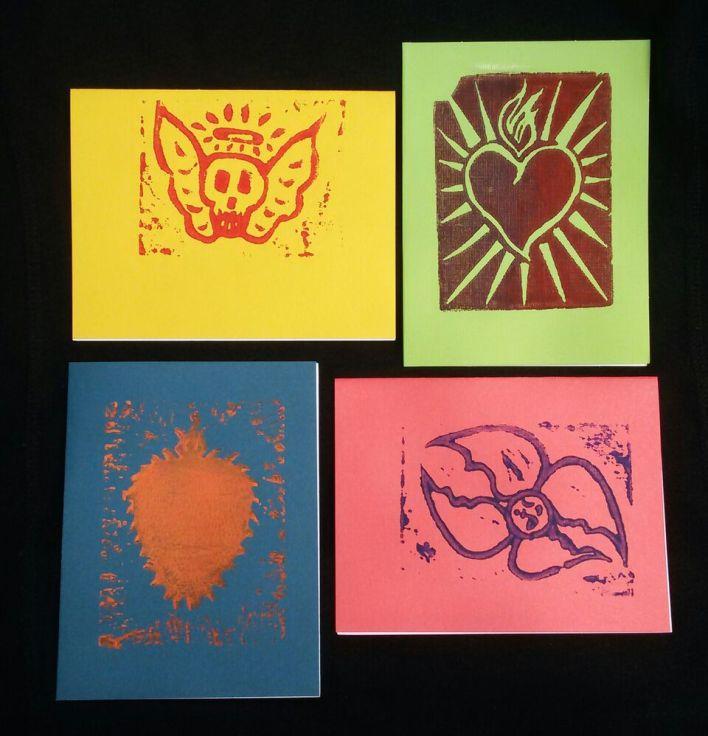 Handprinted Notecards 3