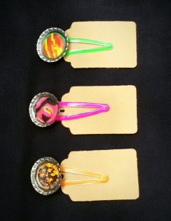 Bottlecap Hairclips